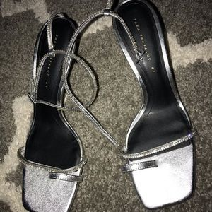 Zara Shiny High-Heeled Sandals